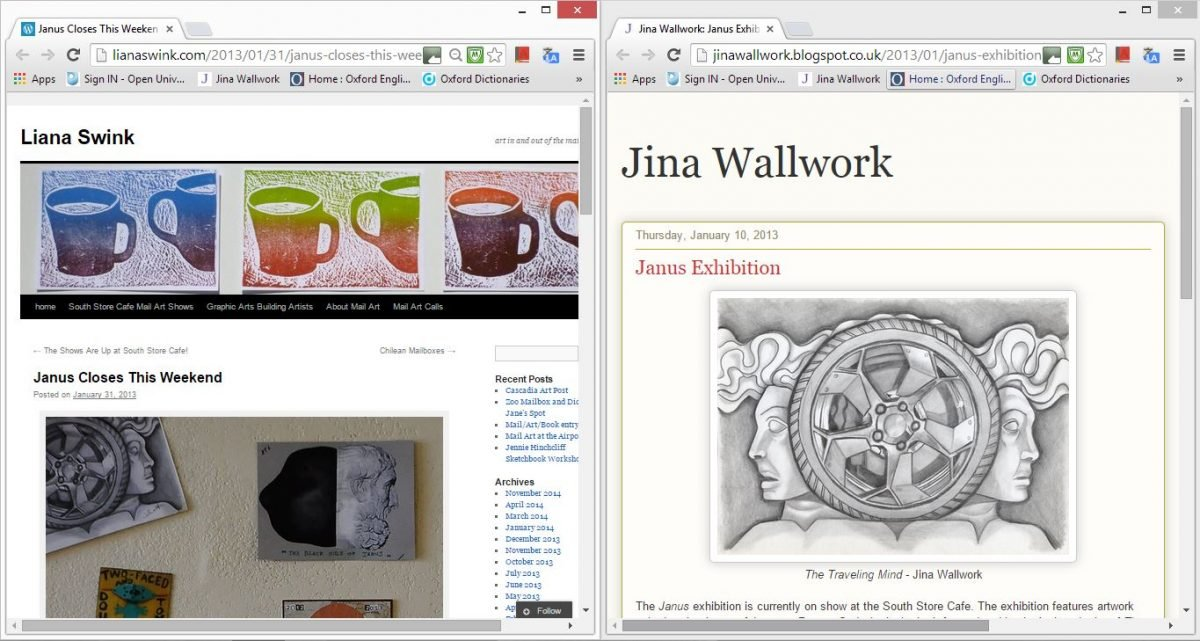 2013 janus exhibition (web clippings)