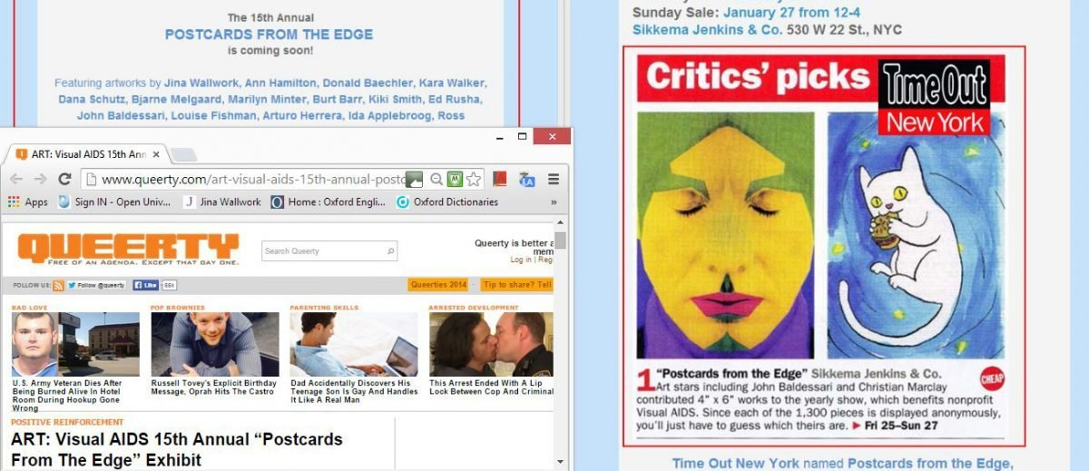 2013 postcards from the edge (web clippings)
