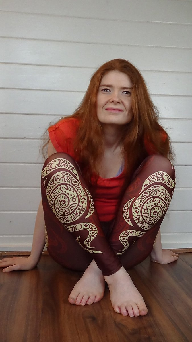 Swirl Leggings (Brown)