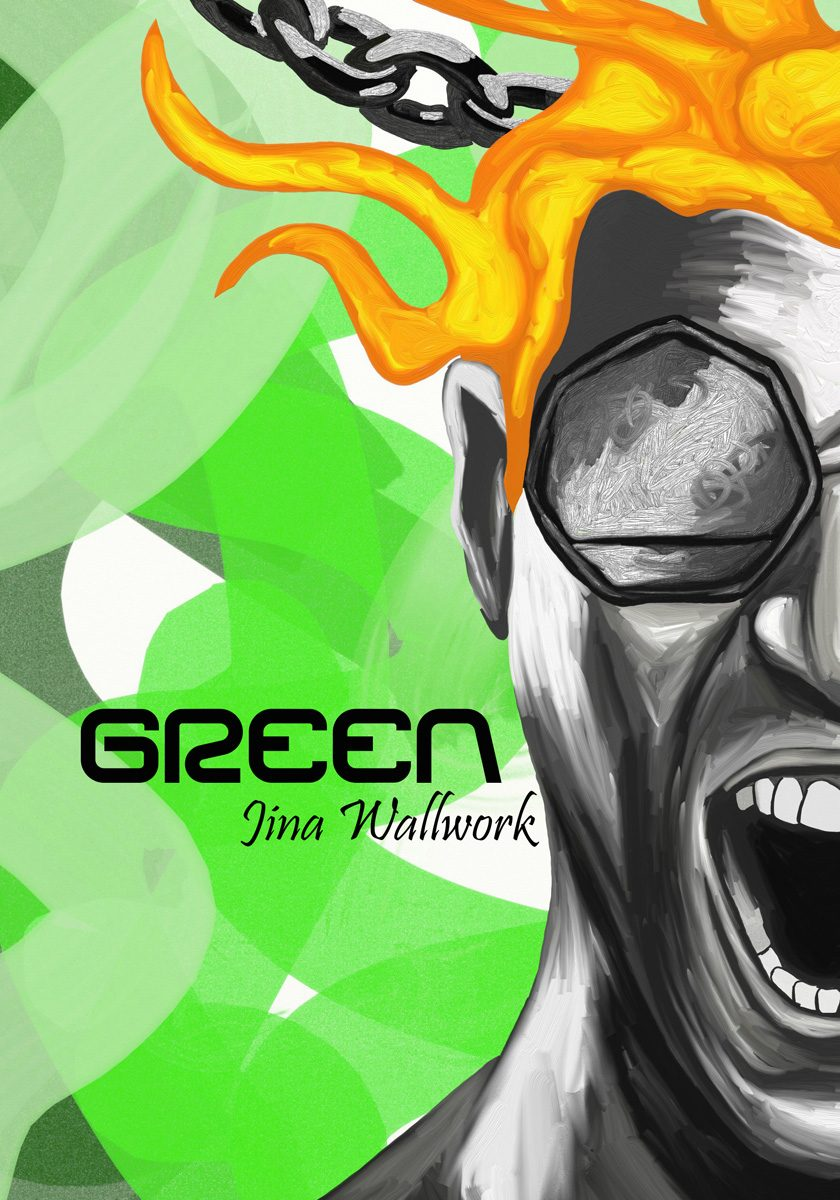 Green (book cover) by Jina Wallwork