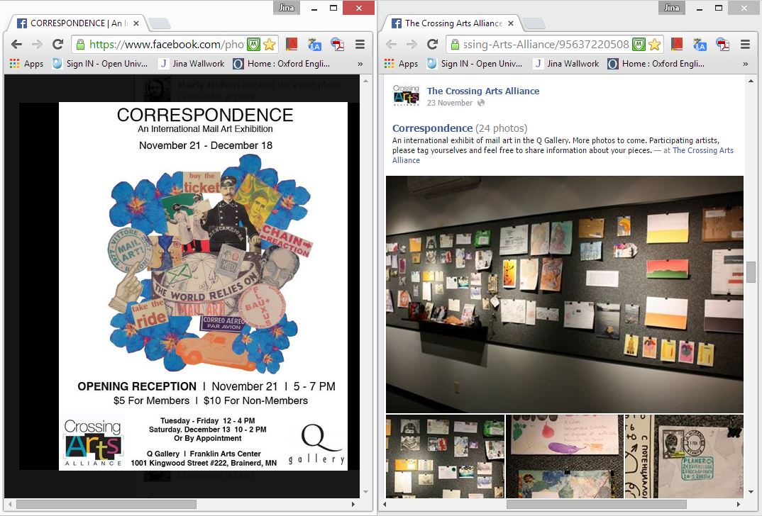 correspondence exhibition (web clippings)