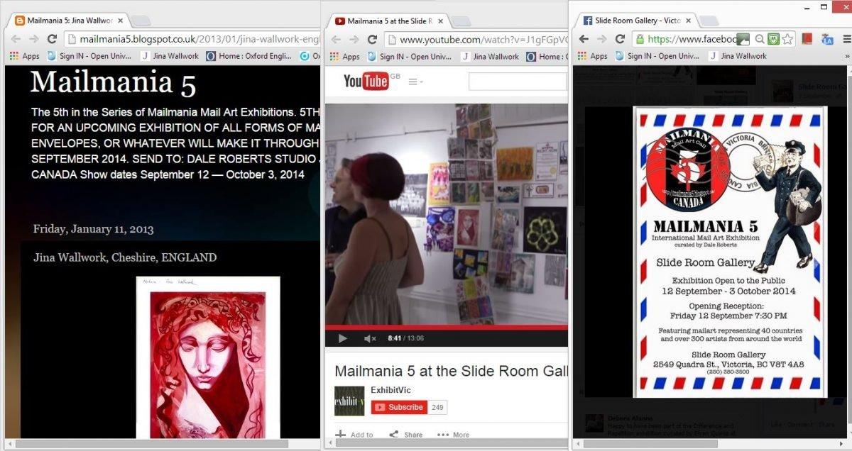 Maillmania exhibition (web clippings)
