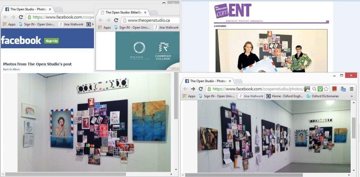 open studio exhibition (web clippings)