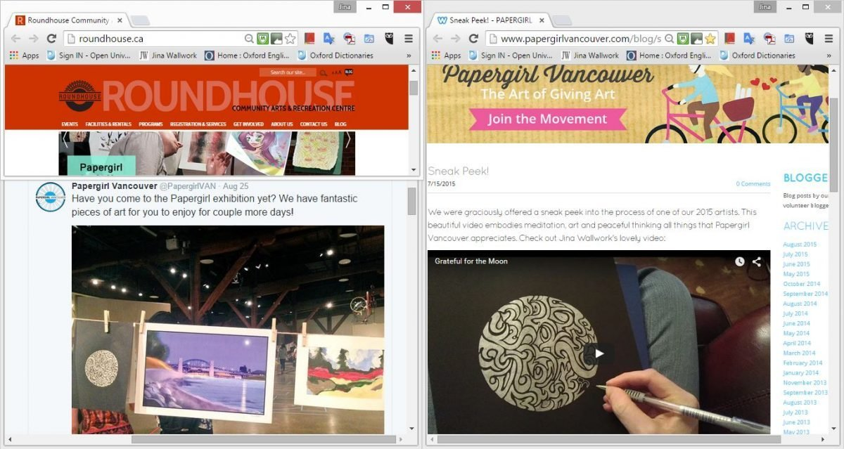 2015 papergirl vancouver exhibition (web clippings)