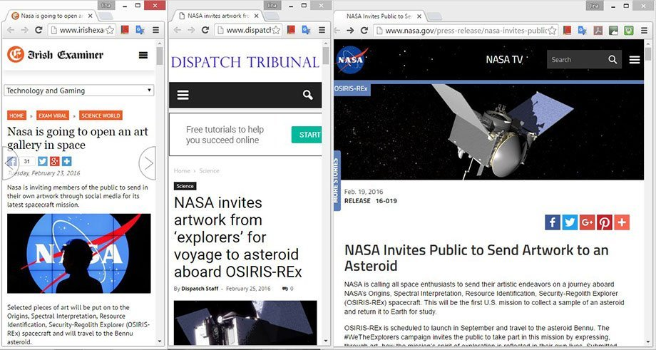 NASA project (web clippings)